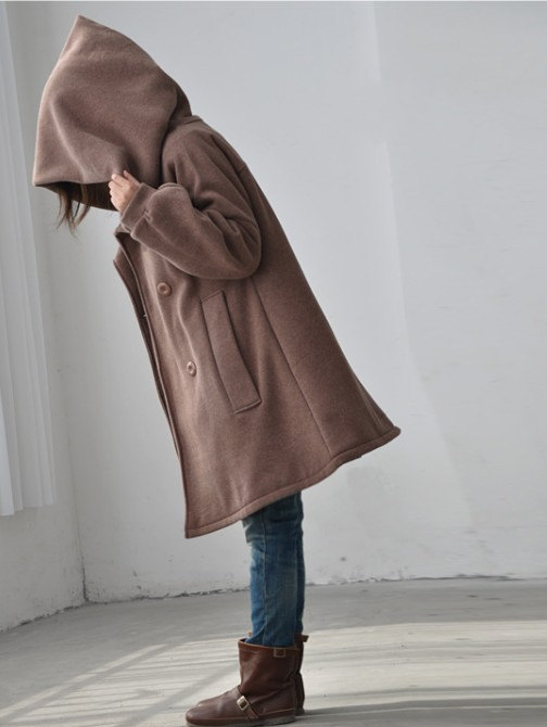 babydoll, clothing, comfortable, double breasted, hoodie, jacket, long