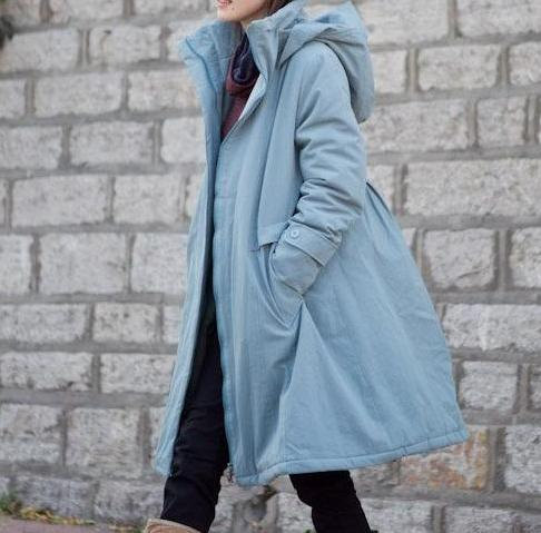 clothing, women, jacket, winter, hooded jacket coat