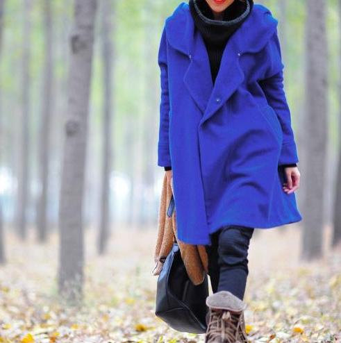 autumn, blue, cape coat, cloak, clothing, coat, grass green, hooded, jacket, spring coat, winter, winter coat, women, wool coat, wool overcoat, yellow