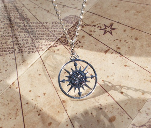 cheap gift for graduate, compass, compass necklace and fashion