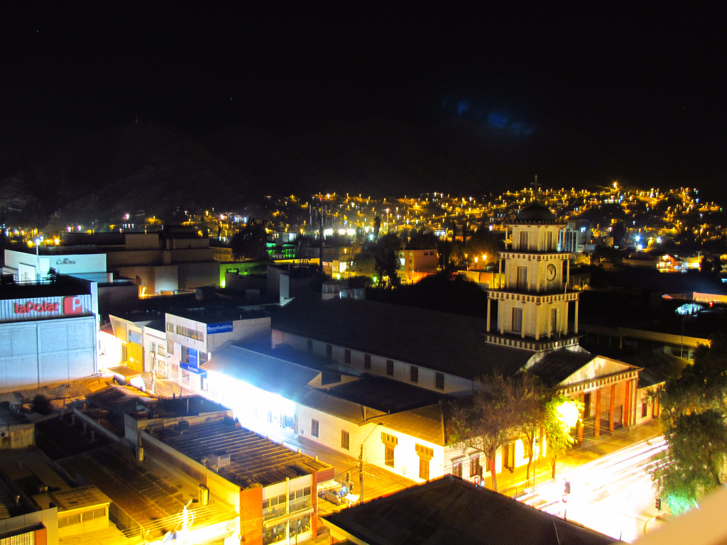 copiapo, city, night, lights, chile