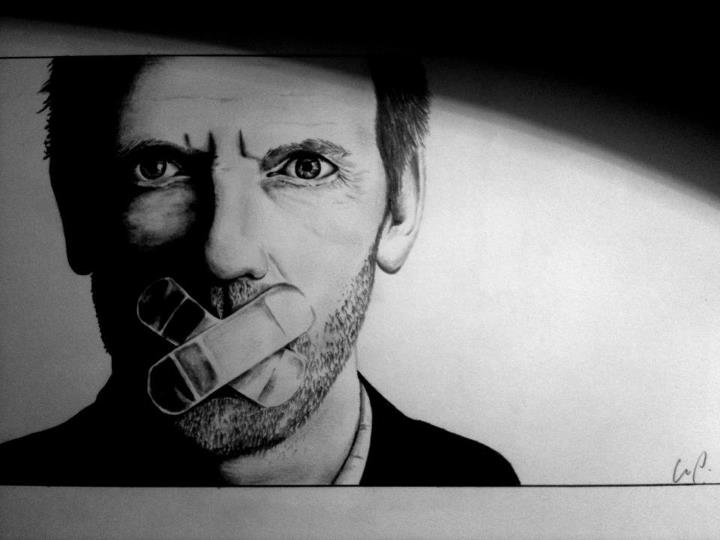 dr house, art, draw, drawing