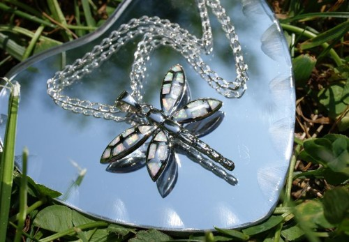 cheap gift for wife girlfriend fiancee friend sister daughter, designer dragonfly necklace, designer necklace, dragonfly, dragonfly necklace, fashion, illuminating designs, illuminating designs artfire, illuminating designs by connie