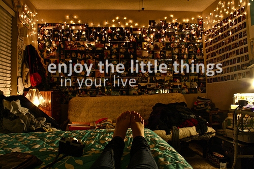 enjoy, little, thing, live, happy