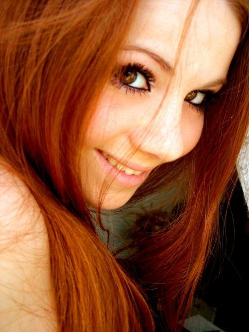 eyes, red hair, beautiful