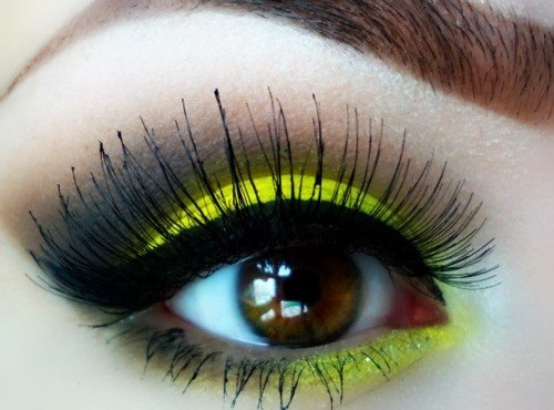 eyes, yellow, beauty