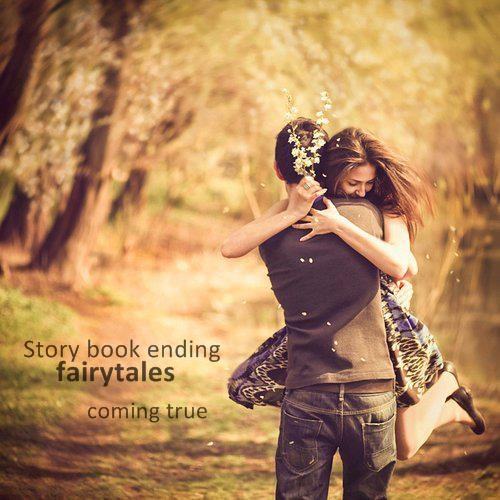 boy, couple, fairytale, girl, happy, hug, smile, story, tree