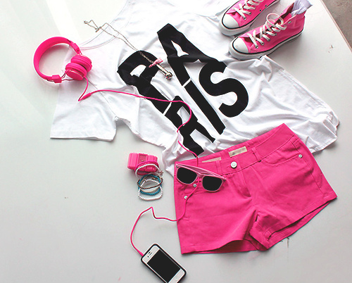 fashion, love, pink, paris, phone, shoes, music