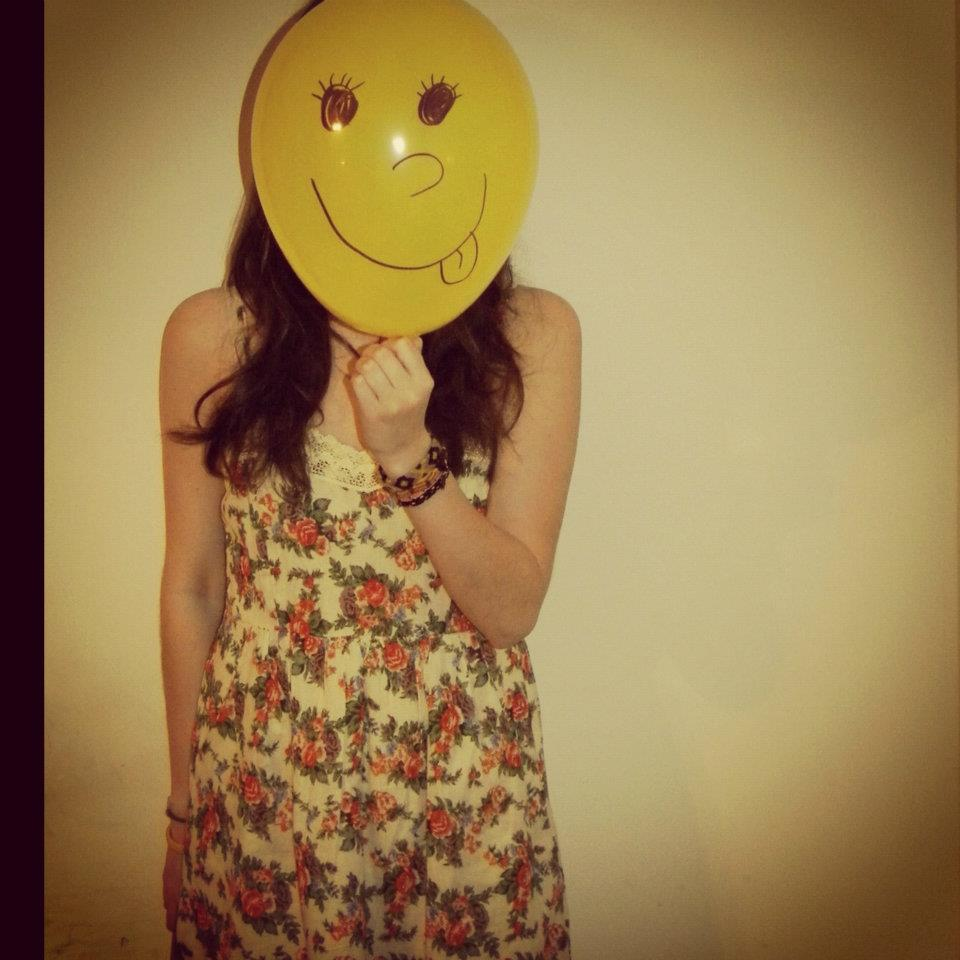 girl, balloon, smile, fun, cute