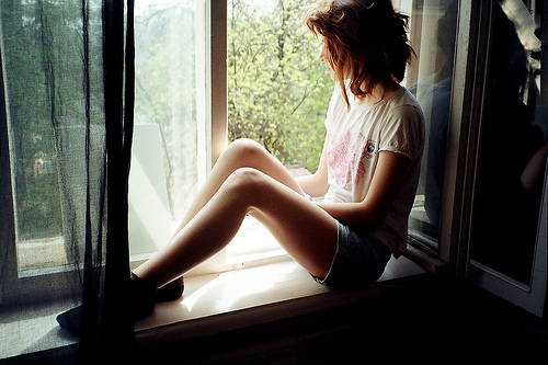 beautiful, cute, dream, fashion, girl, hair, nature, photo, photography, room, style, vintage, window