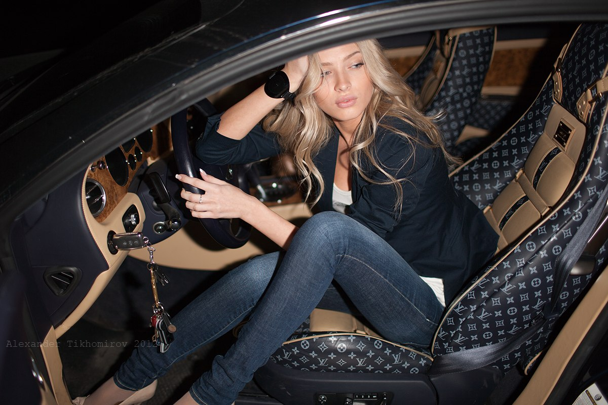 girl, louis vuitton, car, interior