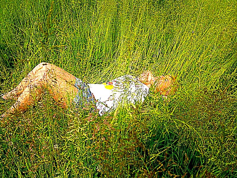 girl on the grass