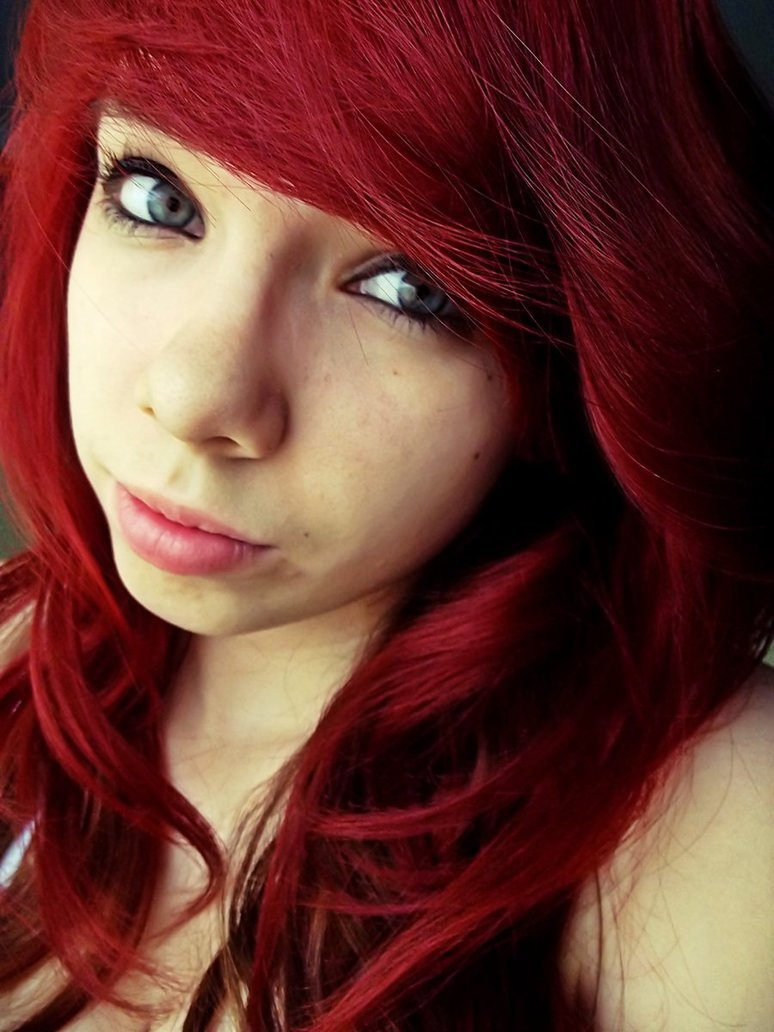 girl, red hair, eyes, beautiful, hair
