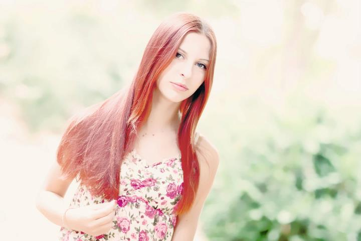 girl, red hair, red, hair, dress