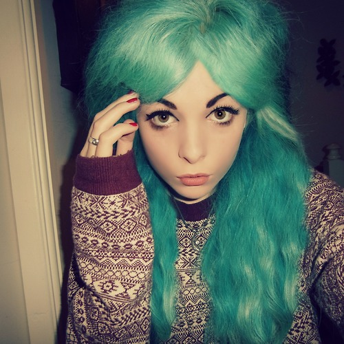 girls, blue hair, eyes, cute, beautiful