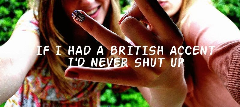 girls, quote, british flag, british accent, nail