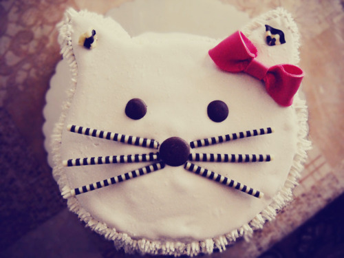 beautiful, cake, cat, colorful, cool, cute, food, hello kitty, kitty, photography, ribbon, sweet