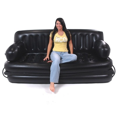 inflatable, couch, cute, girl, love