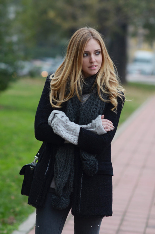 invierno, alone, girl, fashion