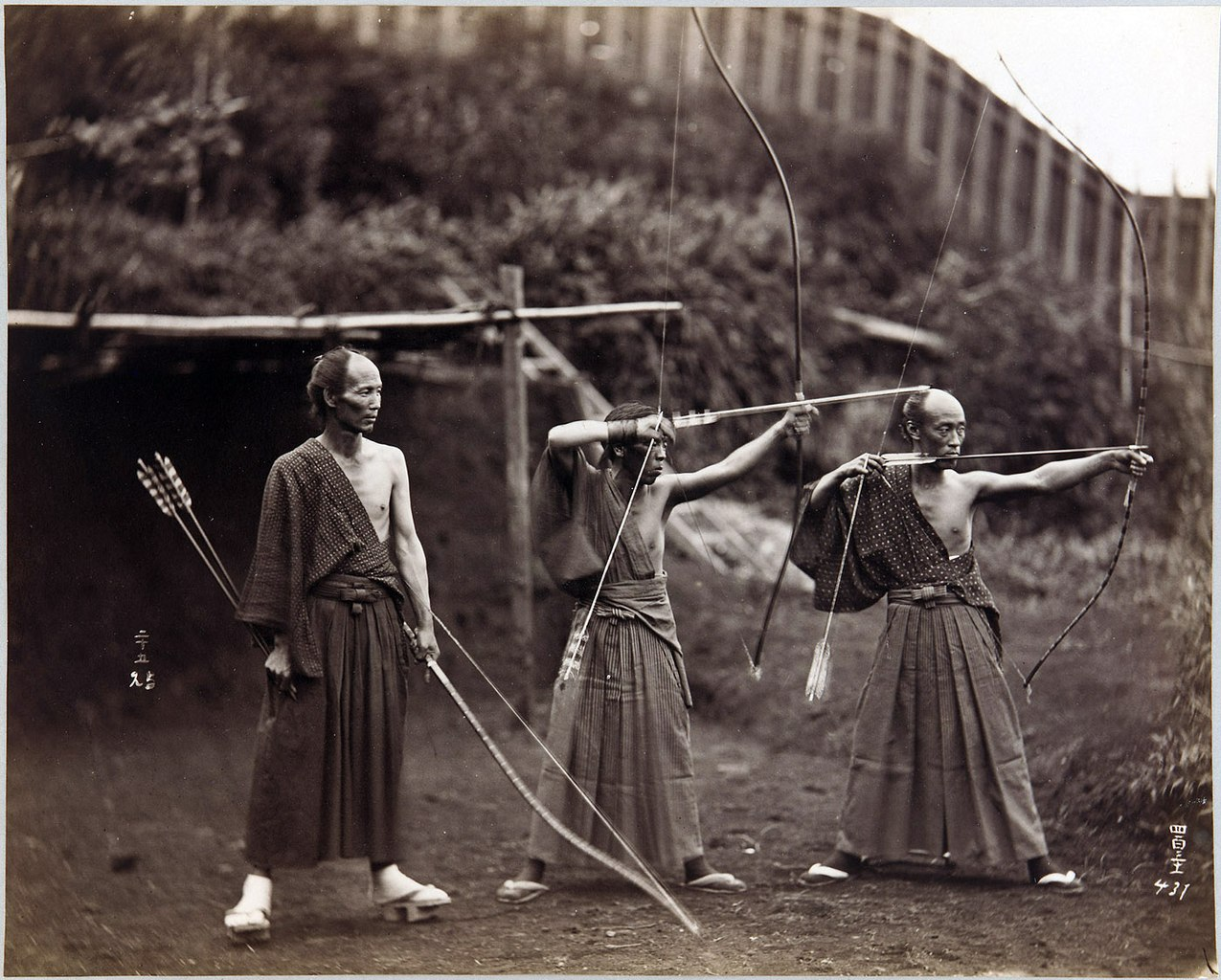 japan, archers, bow, arrows