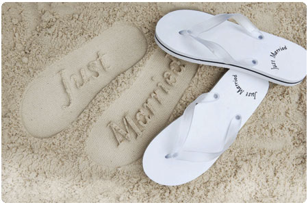 just, married, sand, footprints, print