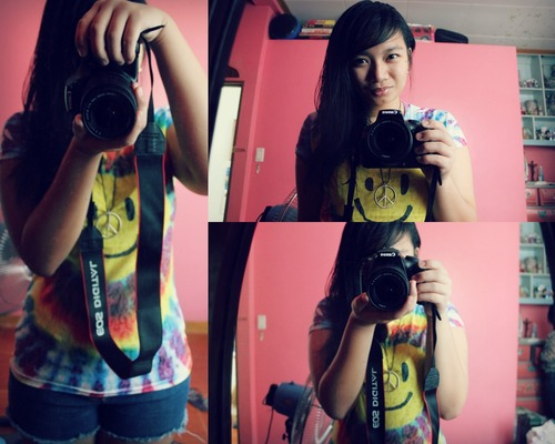 camera, canon, lalalalarra, peace, smile