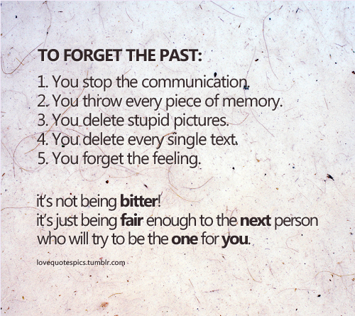 How To Forget A Past Relationship