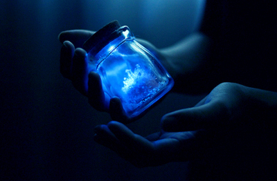 blue, dark, fantasy, hands, light, magic