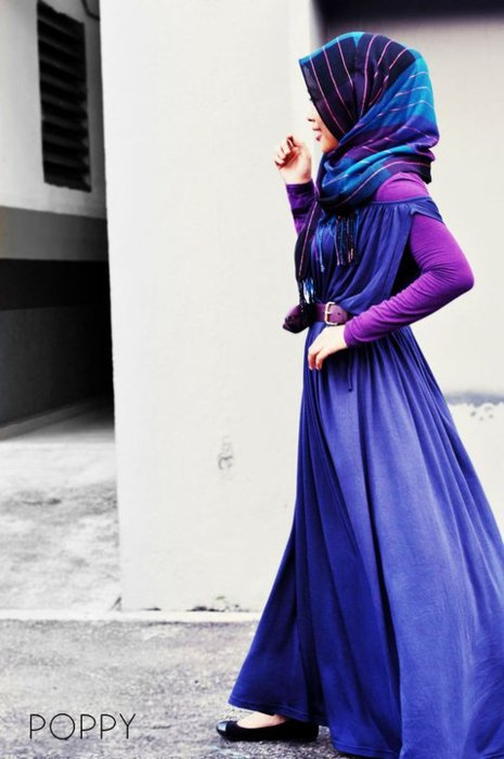 maxi, purple, style, fashion, muslim