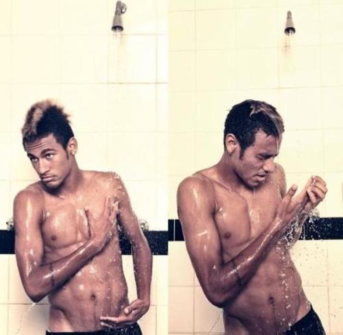 Fotos de Neymar. I'm a believer. Neymar-sexy-hot-beautiful-football-player-shower-brazilian-haircut-attractive-gorgeuos-Favim.com-462566
