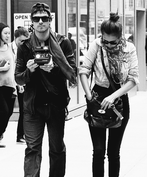 camera, ian somerhalder, nian, nina dobrev, pretty, sexy, the vampire diaries