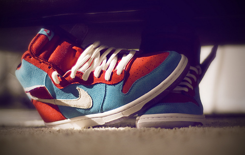 nike, sneakers, red, shoes