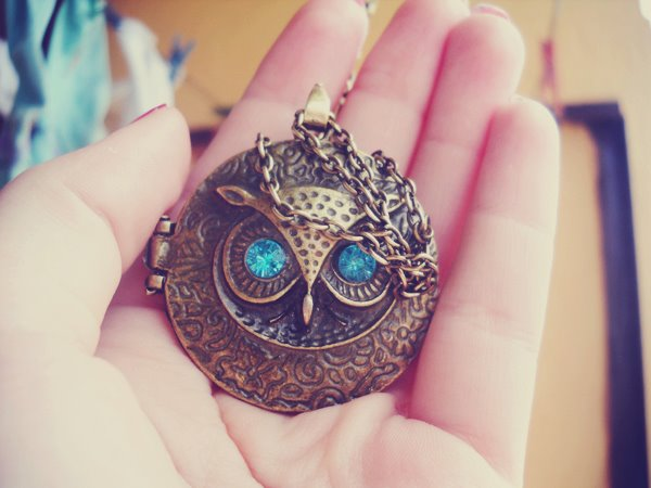 owl, blue, eyes, beautiful, jewelry