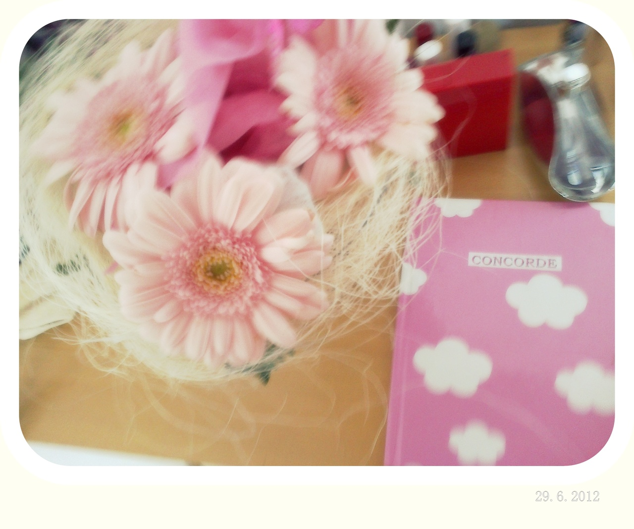 pink, flower, notes, girly