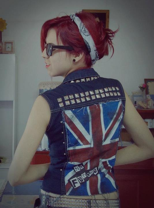 bandana, cute, ginger, girl, glasses, punk, red hair