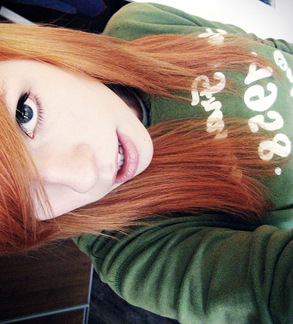 beautiful, eyes, girl, green, redhead