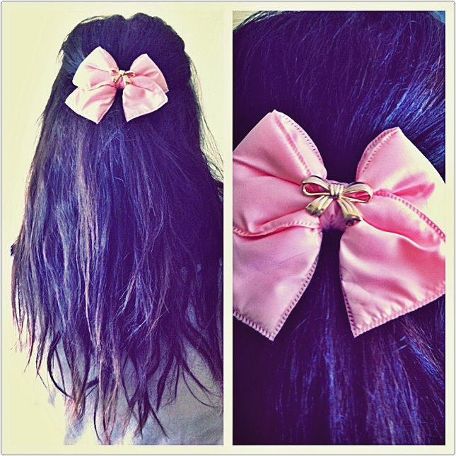 ribbon, girl, hair, pink