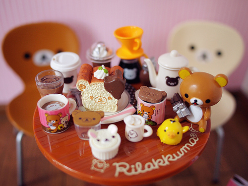 rilakkuma, kawaii, cute, doll, romantic