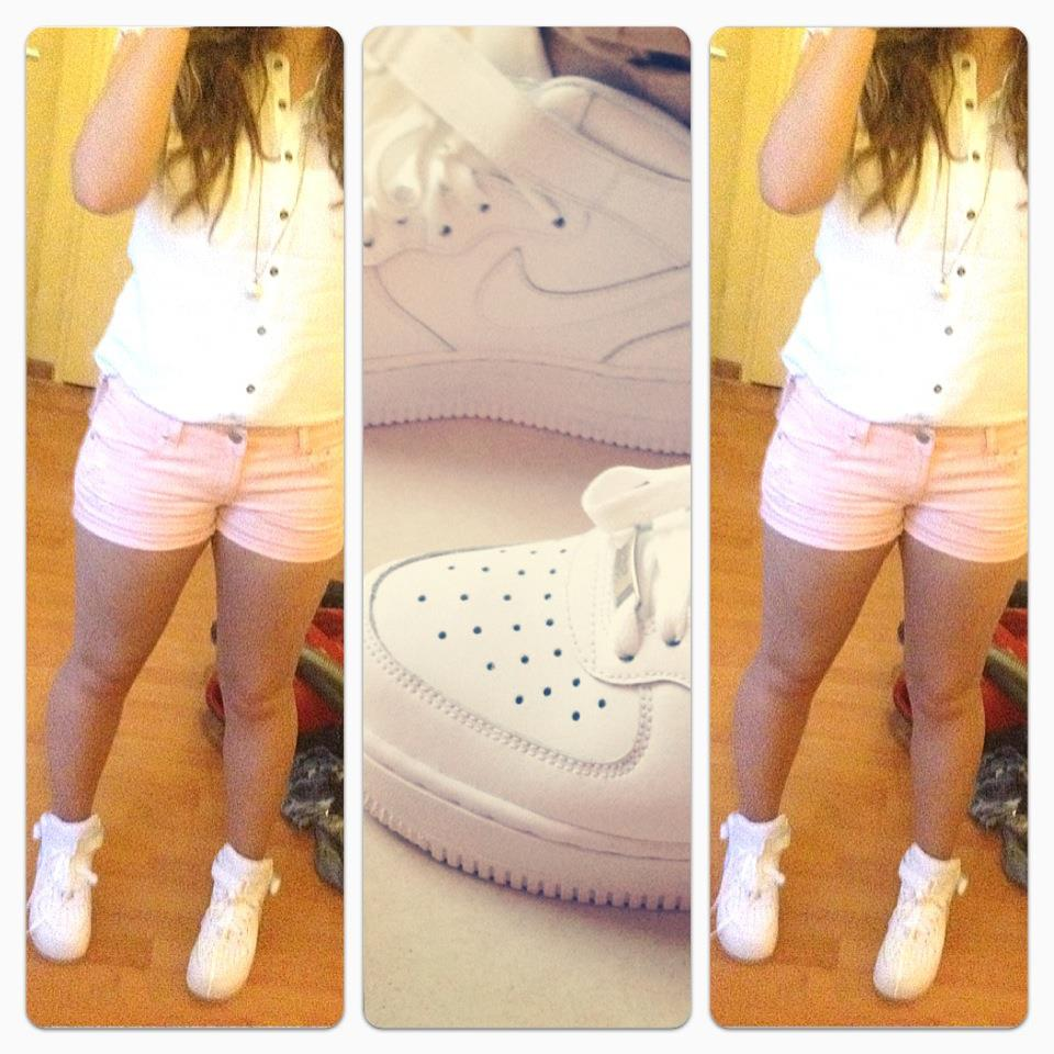 shoes, short, girl, white, pink
