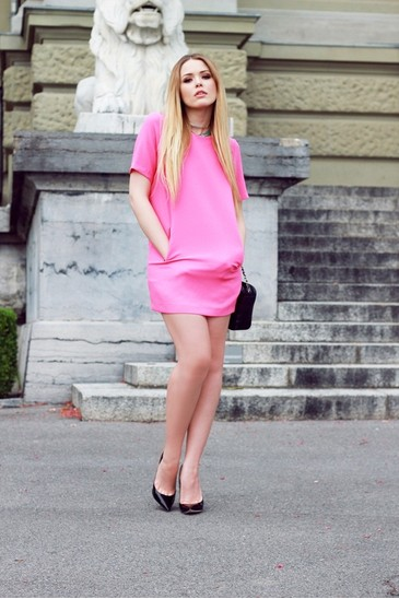 beautiful, blonde, fashion, pink, shoes, zapatos