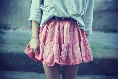 cute, girl, skirt