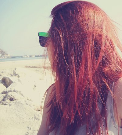 amazing, beach, beautiful, cool, girl, glasses, hair, red, red hair, summer, sun