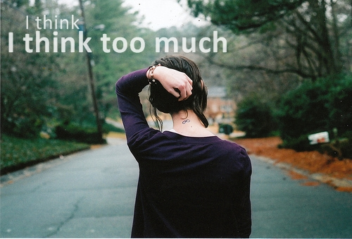think, girl, alone, happy
