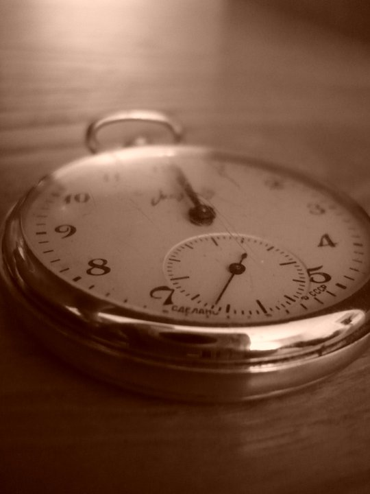 clock, sepia, time, vintage, watch