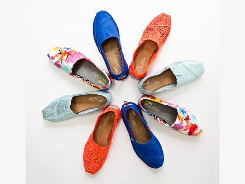 toms, colorful, shoes, circle