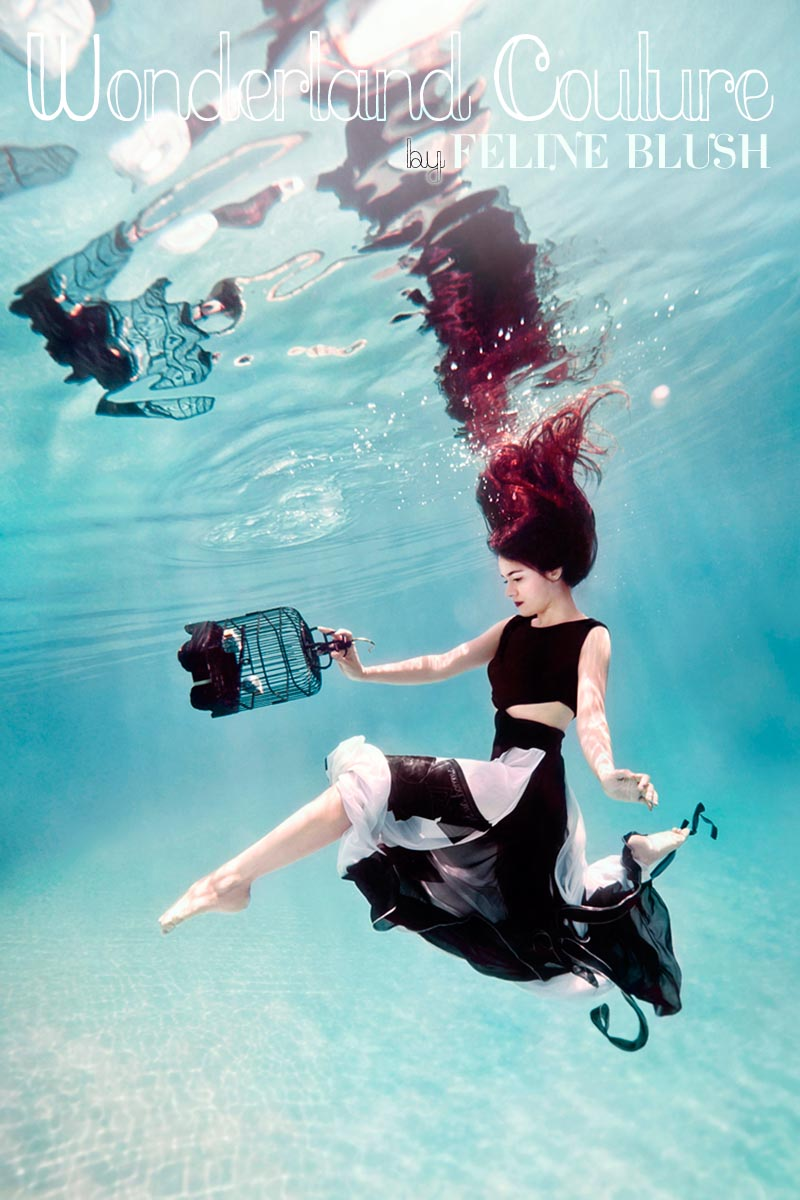 underwater, photography, feline blush, girl, model