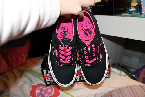 black, fashion, love, pink, shoes, vans