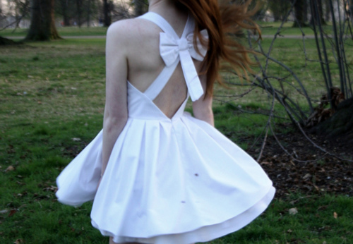 vestido, white, fashion