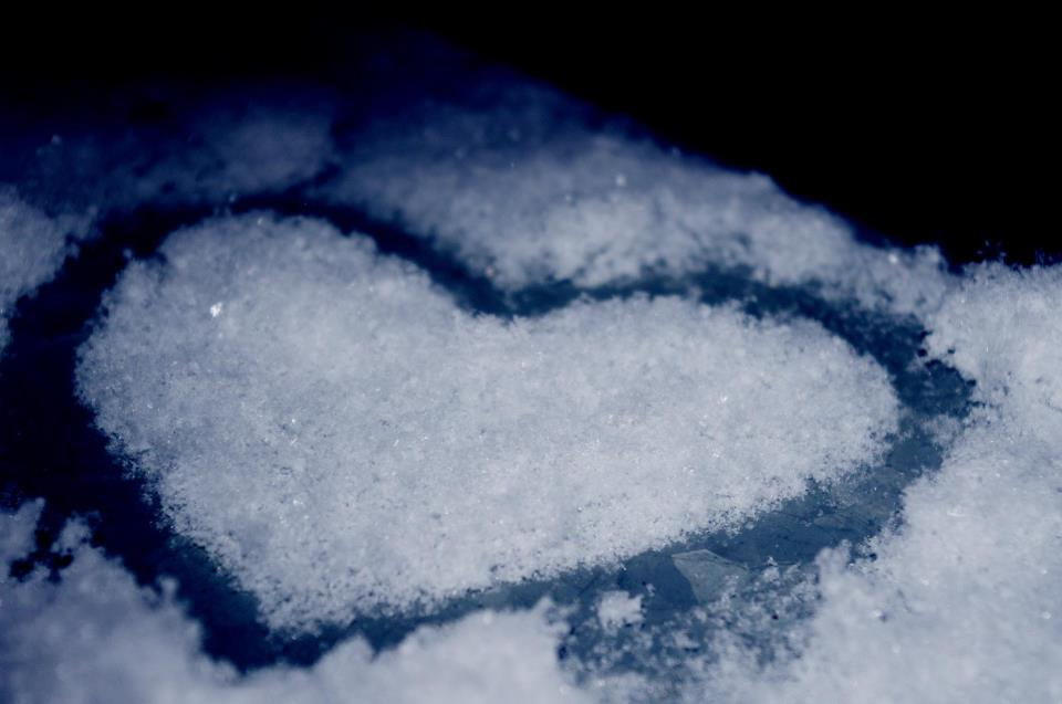 winter, snow, heart, cute, cold
