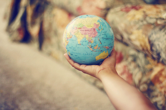 world, earth, globe, vintage, hand
